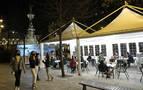 Paseo Sarasate: las terrazas de los desplazados