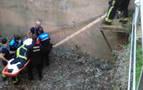 Rescatado con hipotermia severa un hombre en una acequia de Tudela