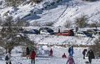 La nieve avanzará mañana desde el sur de Navarra y el Gobierno pide evitar viajes