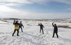 La nieve cubre el 'desierto' de Bardenas