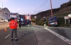 Tres heridos leves en una colisión en Berrioplano