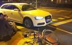 Herida grave una ciclista en un accidente en Mendillorri