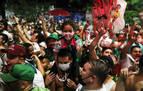 Hinchas del Palmeiras ignoran el confinamiento y toman las calles de Sao Paulo