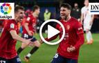Resumen del Osasuna 2-1 Eibar: gol de Calleri (1-0)