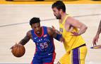 Los Lakers de Marc Gasol doblegan a los Pistons tras dos prórrogas