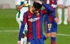 Pedri se pierde el partido de El Sadar por una lesión en el sóleo