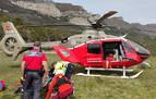 Herido grave un montañero tras precipitarse 20 metros en la sierra de Leyre