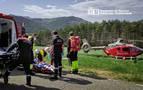Trasladado en helicóptero un motorista de 21 años tras caer por un barranco en Erro