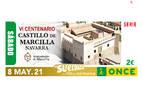 El Castillo de Marcilla conmemora su VI Centenario en el cupón de la ONCE