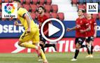 Resumen del Osasuna 3-2 Cádiz: gol de Saponjic (1-1)