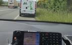 Sustrae una furgoneta de reparto y la Policía Foral le localiza en una retención por un accidente