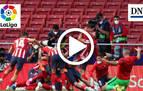 Resumen del Atlético 2-1 Osasuna en vídeo