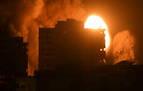 Segunda madrugada de intensos bombardeos israelíes sobre Gaza
