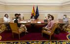 Saiz y Maeztu abordan con el ministro Escrivá el traspaso de la competencia del Ingreso Mínimo Vital