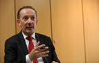 Juan José Suárez Alecha, presidente de la multinacional Azkoyen, durante un momento de la entrevista