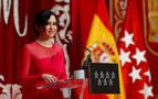 Ayuso toma posesión como presidenta junto a Casado y barones del PP