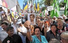 Protestas por el arresto de Yulia Timoshenko