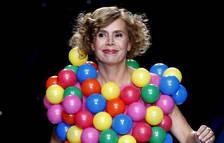 La diseñadora Agatha Ruiz de la Prada durante un pasado desfile de moda de su firma en Cibeles