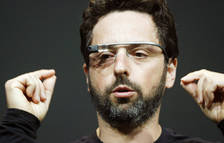 Sergey Brin, cofundador de Google, con las Google Glass