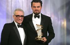 Martin Scorsese (i) y Leonardo di Caprio (d) en 2007