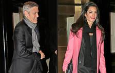 George Clooney y Amal Alamuddin, en Nueva York