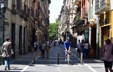 Imagen de la calle Mayor de Pamplona.