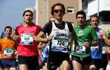 Ana Casares, durante una de las  carreras populares que ha corrido