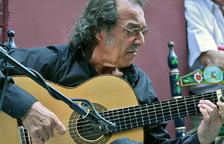 Pepe El Habichuela, durante la inauguración de Casa Sabicas el pasado día 25