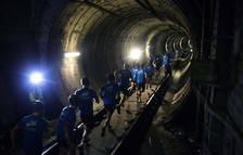 La carrera en el metro de Barcelona.