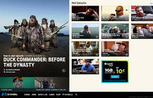 Página principal de la web del canal televisivo A&E