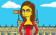 La Reina Letizia, en versión Simpson