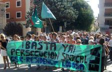 La concentración tuvo lugar ante el ayuntamiento de Lodosa