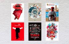 Carteles finalistas para las fiestas de Tudela