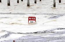 Desbordamiento del Ebro en Castejón a principios de febrero en 2016