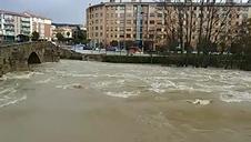 El río Arga, a su paso por la Rochapea