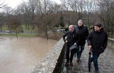 Joseba Asiron, ha visitado el entorno del Arga y ha comentado que las inundaciones
