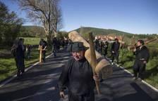 Los vecinos de Oroz- Betelu y el valle de Arce peregrinaron a Roncesvalles