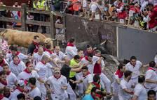 Imágenes del primer encierro de San Fermín 2017