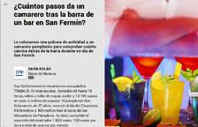 El posible uso de gas pimienta para robar en San FermÍn, en El Diario DN+
