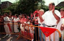 Los sanfermines se unieron al dolor por el secuestro y asesinato de Miguel Ángel Blanco
