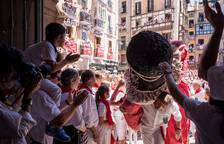 Imágenes de la despedida de los gigantes de San Fermín 2017