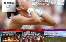 Muguruza reina en Wimbledon, en El Diario DN+