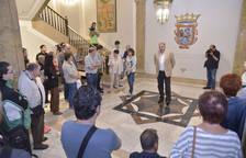 Nueva decoración del Ayuntamiento de Pamplona