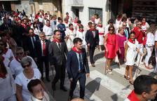 Procesión de la Virgen de la Paz por las calles de Cintruénigo