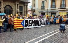 La concentración, este domingo, en Pamplona.