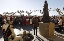 Inauguración en Aibar de la estatua de doña Sancha