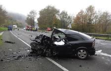 Dos muertos en un accidente en Oieregi