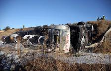 Accidente de un camión en Tudela