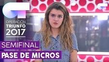 Primer pase de micros de Amaia Romero en 'Operación Triunfo' para la gala 12