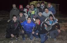 Noche de hogueras en San Adrián para celebrar San Antón